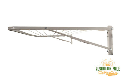 Eco 240 Clothesline - Surfmist Right Side View - Australian Made Clotheslines