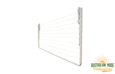 Eco 240 Clothesline - Right Side Perspective Folded Down - Australian Made Clotheslines