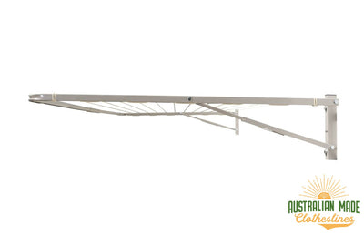 Eco 300 Clothesline - Surfmist Right Side View - Australian Made Clotheslines