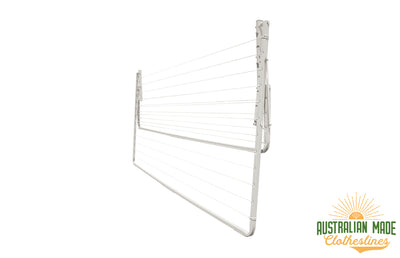 Eco Lowline Attachment - Surfmist Right Side Perspective Folded Down - Australian Made Clotheslines