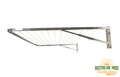 Eco 240 Stainless Steel Clothesline - Stainless Steel Right Side Perspective - Australian Made Clotheslines