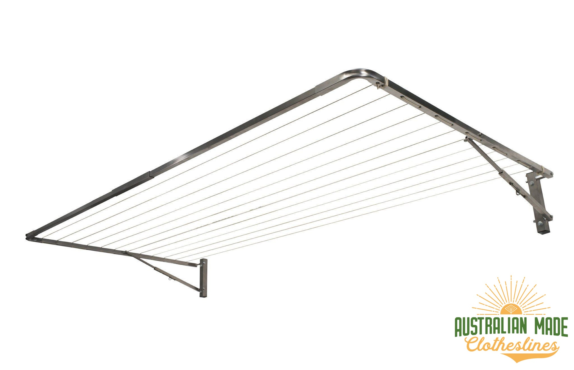 Eco 120 Stainless Steel Clothesline - Stainless Steel - Australian Made Clotheslines