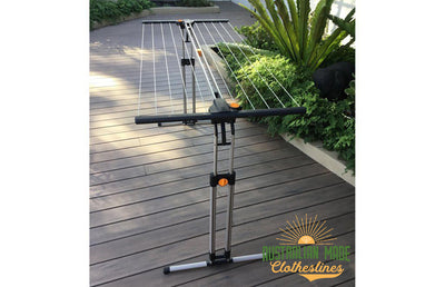 EcoDry Portable Clothesline - Portable Clothesline Actual Image Side View - Australian Made Clotheslines