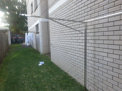 316 stainless steel clothesline ground mounted using 316 stainless steel legs