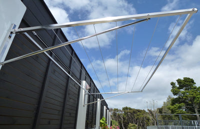 316 stainless steel clothesline wall mounted to fence