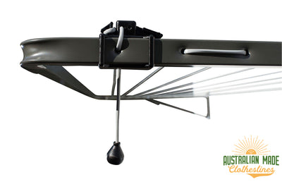 Austral Compact 28 Clothesline - Close Up Line Tensioner - Australian Made Clotheslines