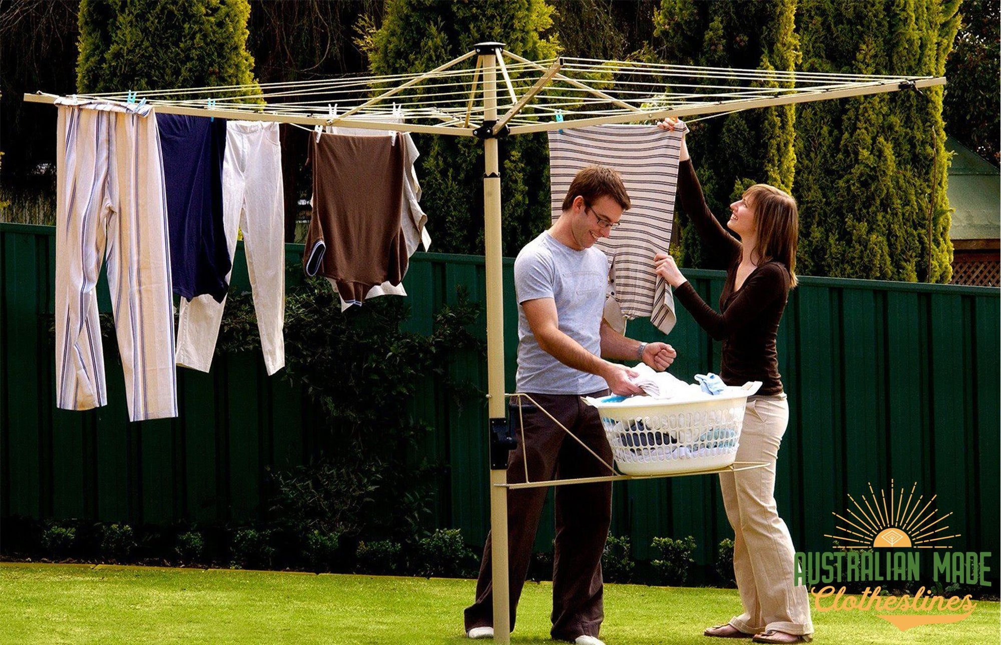 Austral Foldaway 45 Rotary Clothesline - Suitable for 3- 4 People - Australian Made Clotheslines
