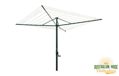 Austral Foldaway 45 Rotary Clothesline - Heritage Green - Australian Made Clotheslines