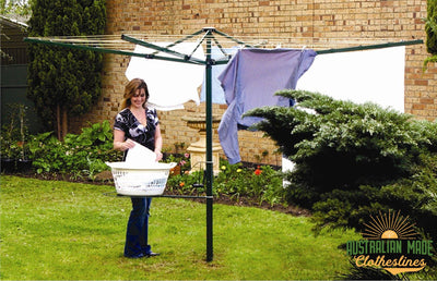 Austral Foldaway 51 Rotary Clothesline - Suitable for 5 or more people - Australian Made Clotheslines