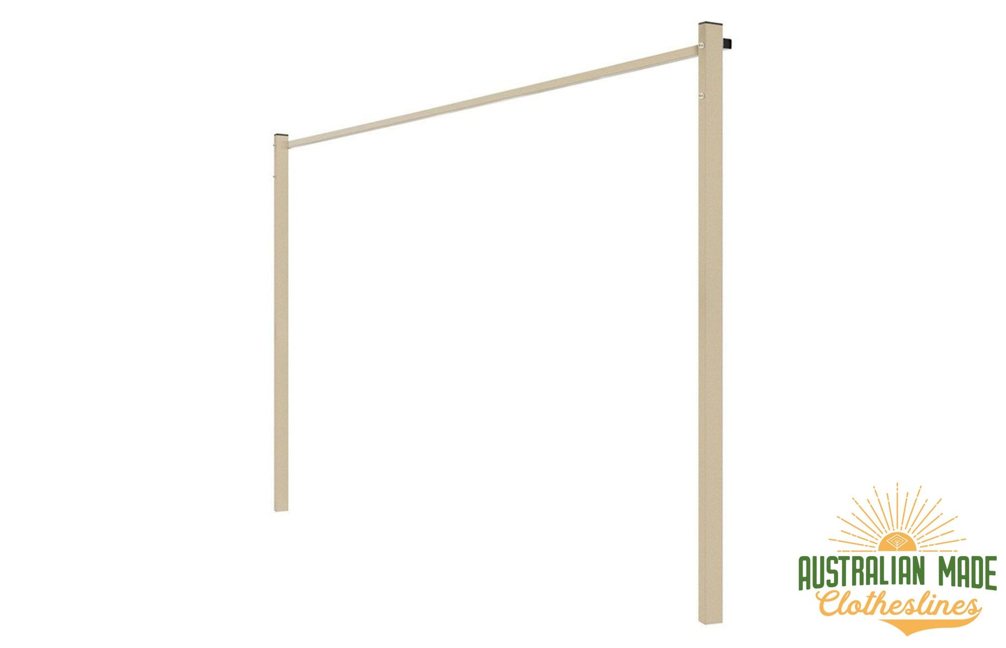 Austral Ground Mount Kit - Classic Cream Standard Ground Mount Kit for Soil or Grass Mounting - Australian Made Clotheslines