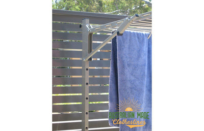 Austral Unit Line 15 Ground Mount Kit - Close Up Left Perspective - Australian Made Clotheslines
