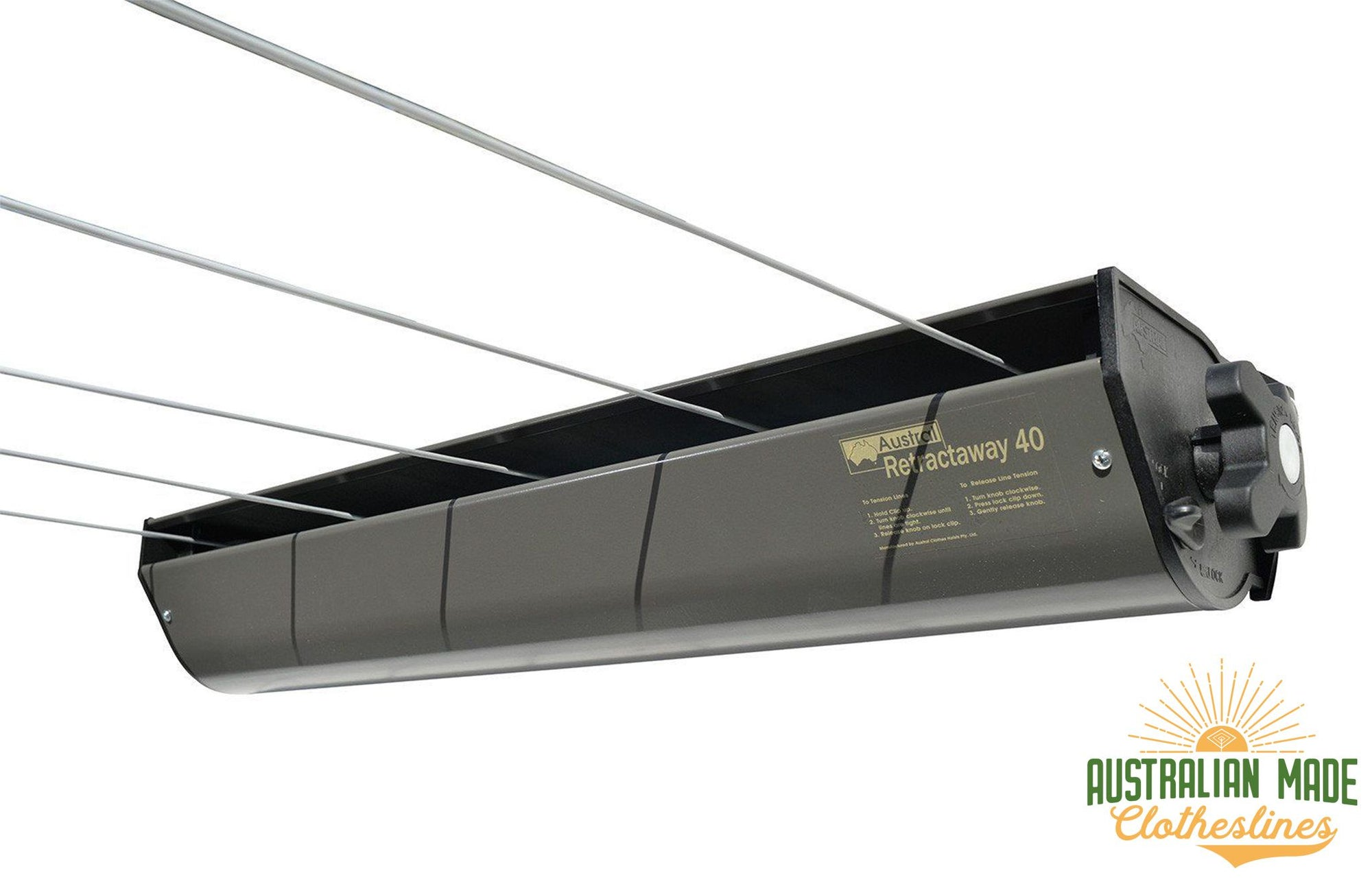 Austral Retractaway 40 Clothesline - Woodland Grey - Australian Made Clotheslines