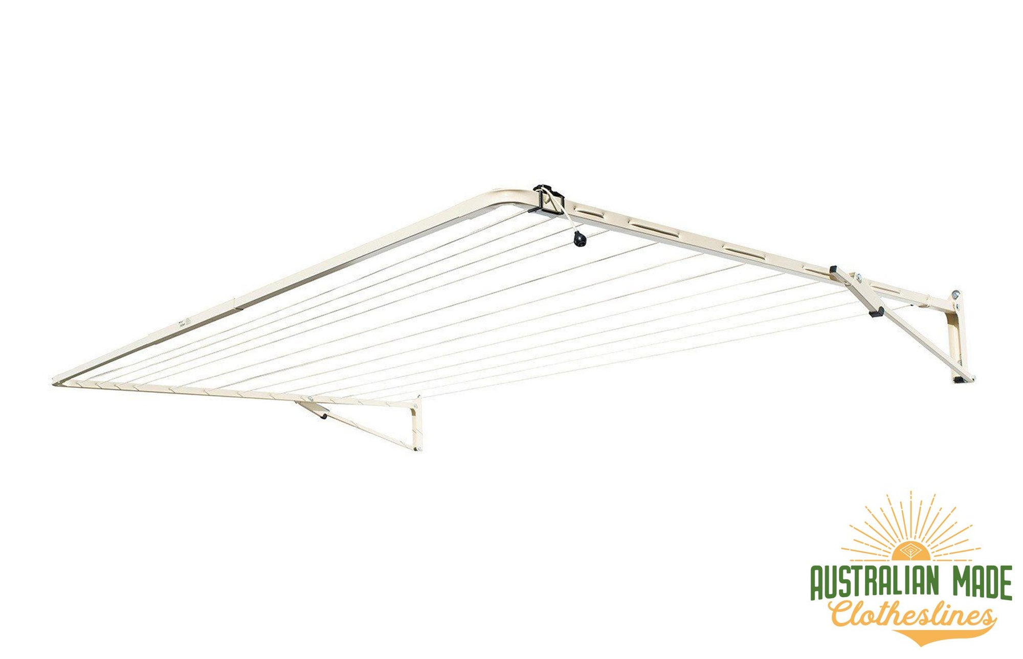 Austral Standard 28 Clothesline - Classic Cream Right Side Perspective - Australian Made Clotheslines