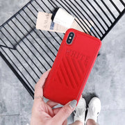 Off-White Leather iPhone Case