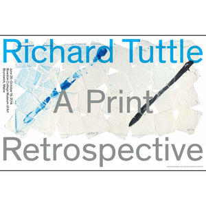 Richard Tuttle: A Print Retrospective Poster
