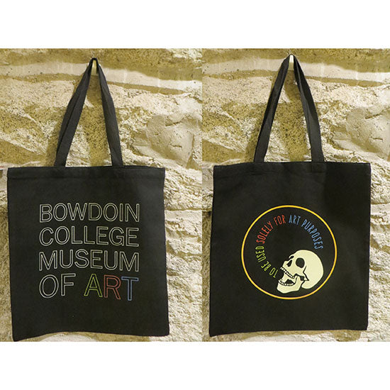 Black Canvas Bowdoin College Museum of Art 2017 Tote Bag