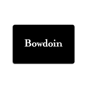 Black plastic card with white BOWDOIN wordmark.
