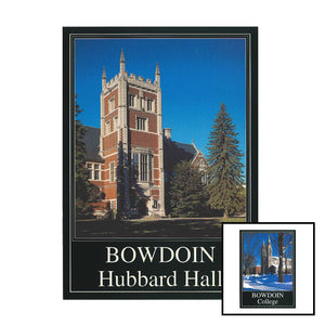 Two different Bowdoin College postcards.