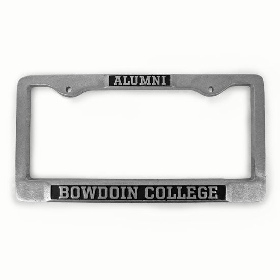 Bowdoin College Pewter License Plate Frame The Bowdoin Store