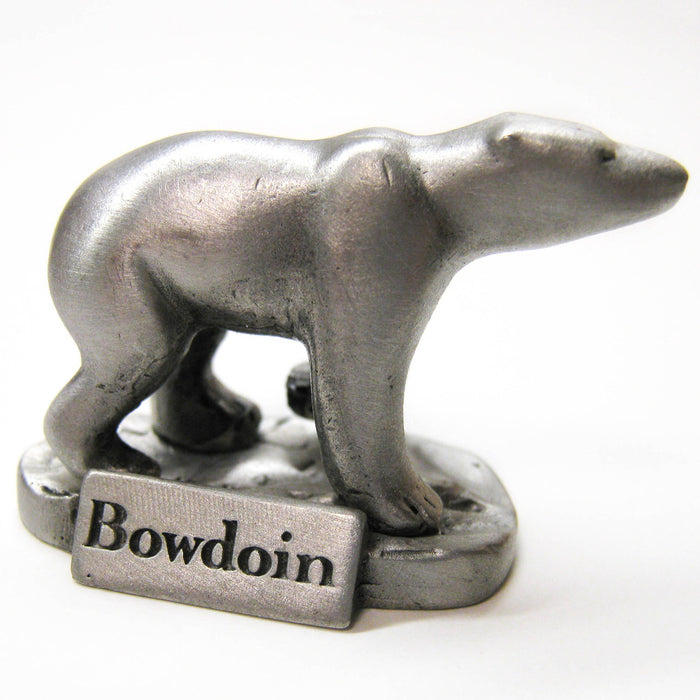Miniature Pewter Polar Bear Figurine