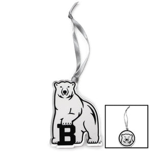 Clear Plastic Bowdoin Ornament