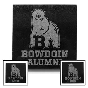 Bowdoin Famiily Etched Granite Coaster