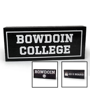 Bowdoin Wood Plaque from Legacy