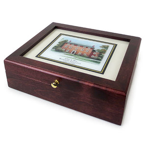 Personalized Traditional Mini Keepsake Box from Eglomisé