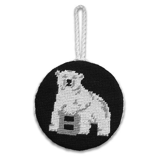 Circle Polar Bear Ornament from Smathers & Branson