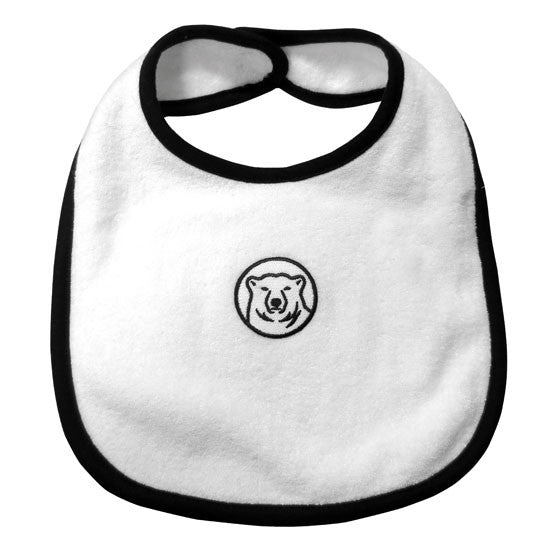 Terrycloth Bib with Polar Bear Medallion