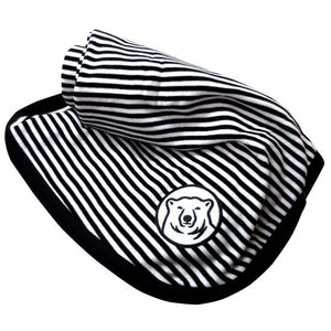Black & White Striped Baby Blanket