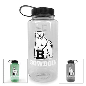 Montage of three wide-mouth Bowdoin Nalgene bottles.