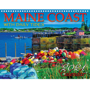 Maine Coast with Daily Tides wall calendar