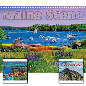 Three different Maine wall calendars from Maine Scene.