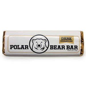 Dark chocolate Polar Bear Bar.