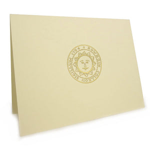 10-pack embossed bowdoin blank notecards