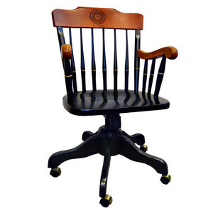 Engraved Rock Maple Five-Footed Swivel Office Chair