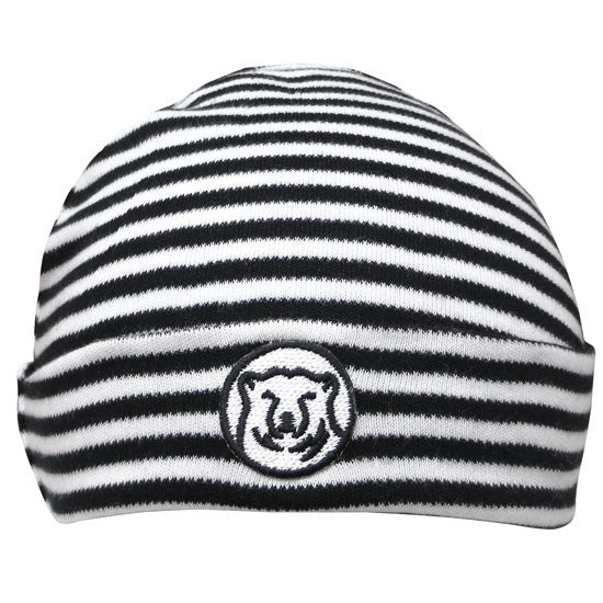 Black & White Striped Baby Hat