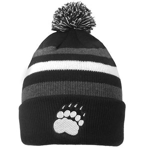 Youth Halftime Knit Hat with Pom