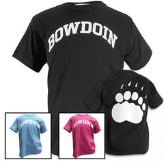 Children's Tee with Bowdoin & Pawprint