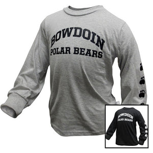 Toddler Long-Sleeved Bowdoin Polar Bears Tee