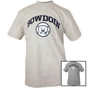 Youth Tee with Bowdoin & Mascot Medallion from Champion