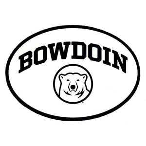 Euro Style Auto Decal with Bowdoin Bear Medallion