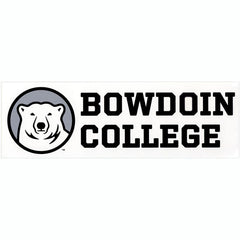 Bowdoin College Bumper Sticker with Bear