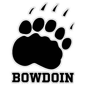 Bowdoin Paw Print Decal