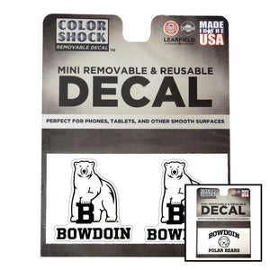 Montage of 2 styles of mini Bowdoin decal.