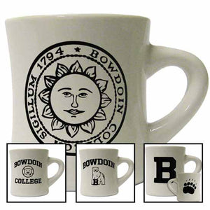 Montage of 4 Bowdoin diner mugs.