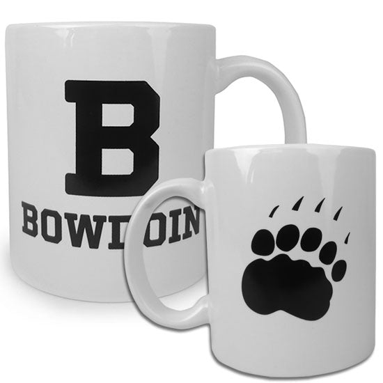 White Coffee Mug with B & Paw Print