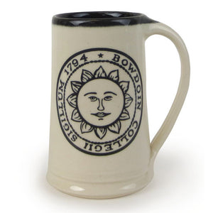 Bowdoin Seal Stein from Great Bay Pottery
