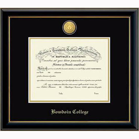 Engraved Medallion Onyx Diploma Frame from Church Hill Classics